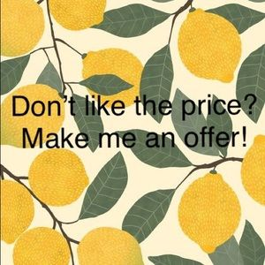 Love the item but not the price? Make me an offer!